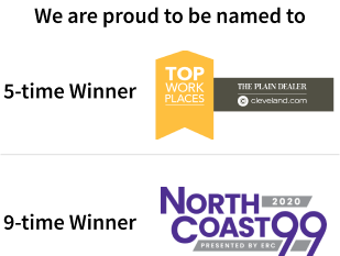 award for Top Workplaces and NorthCoast 99