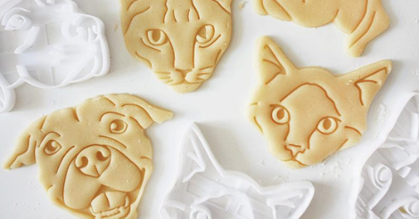 cookie cutter of pet faces